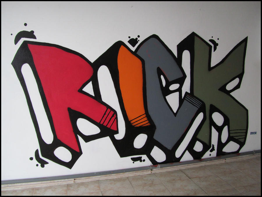 Rick 3D Distorted on Wall by Ricardo-Rick