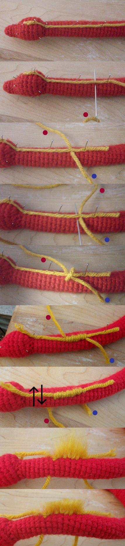 Brushed Yarn Hair Tutorial by Pickleweasel360