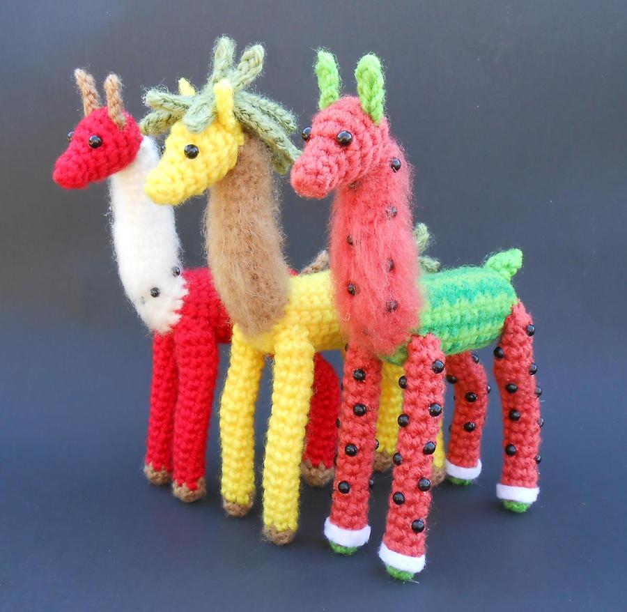 Fruit Llamas Group by Pickleweasel360