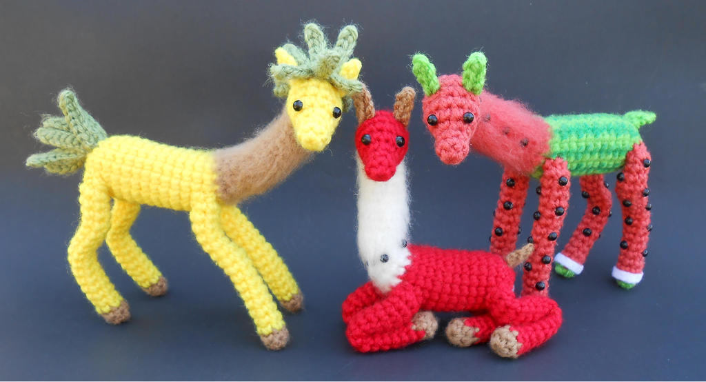 Fruit Llama Family Portrait by Pickleweasel360