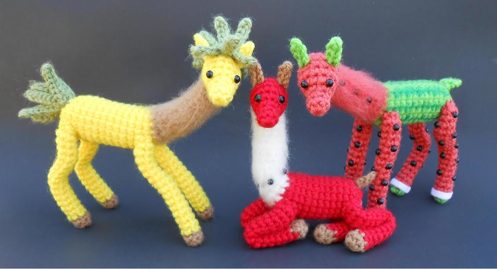 Fruit Llama Family Portrait by Pickleweasel360