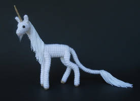 White Unicorn (Pattern Available) by Pickleweasel360