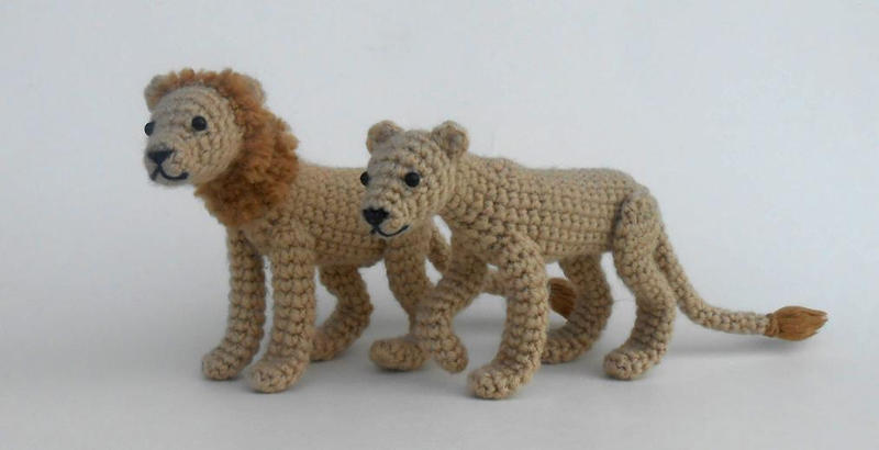 Crochet Lion And Lioness Pattern Now Available By Pickleweasel360