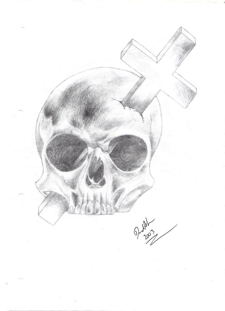 Crosses Skulls Drawings Pencil Drawings of Crosses