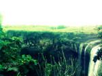 a waterfall. by mustafashr3dd3r