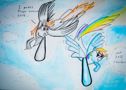 Contest entry, Metis and Rainbow Dash