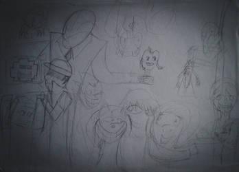Creepypasta collage WIP