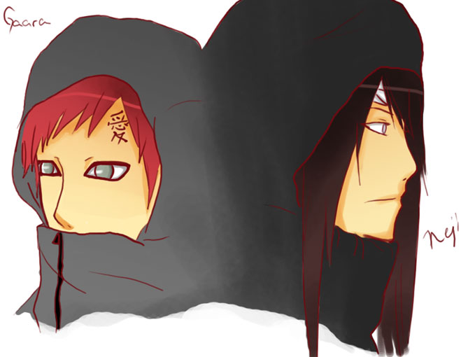 Neji + Gaara by kanaru on DeviantArt Gaara And Neji