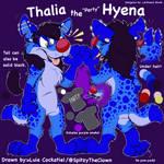 Thalia the Hyena Reference Sheet (2019)