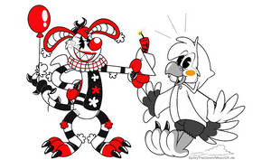 Spitzywise and Louie (Inkblot Style)