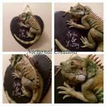 Iguana Plaque