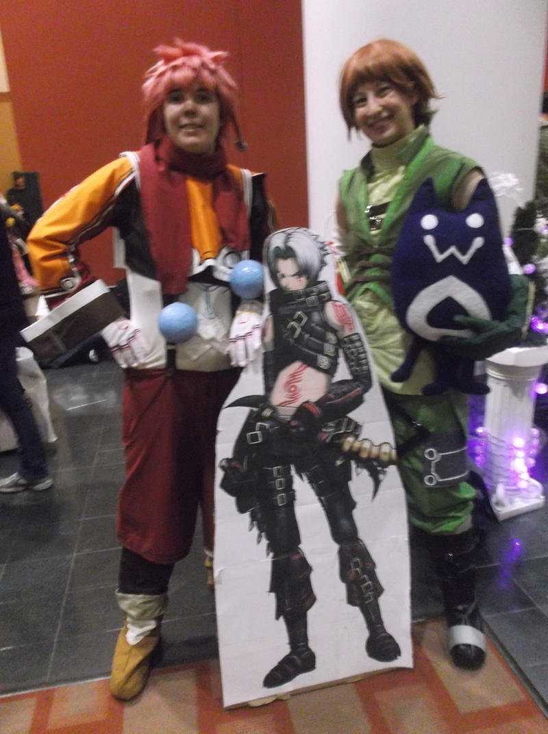 Silabus, Gaspard, and Haseo at Anime Boston 2014 by Dynneekx