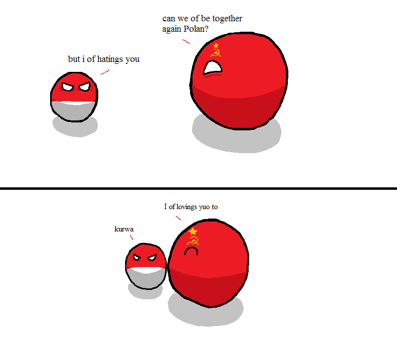 Sovietball loves Polandball by Sovietball