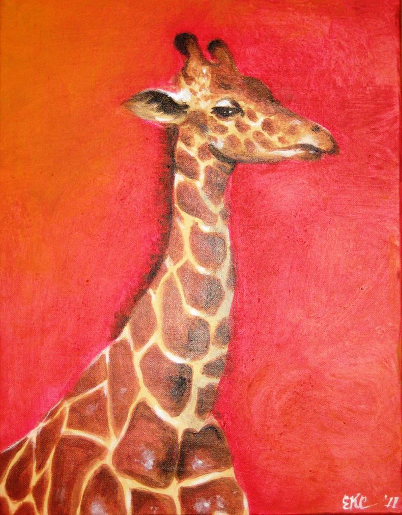 Happy Giraffe by EKCArt