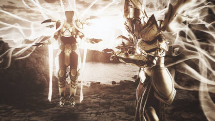 Auriel and Imperius - Diablo 3 cosplay