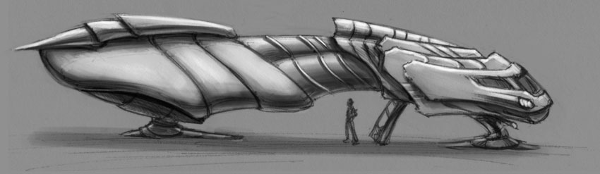 Simple Ship Sketch by beonarri