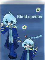 Cuphead Fanart: Blind Specter humanized by Shakey-Shake