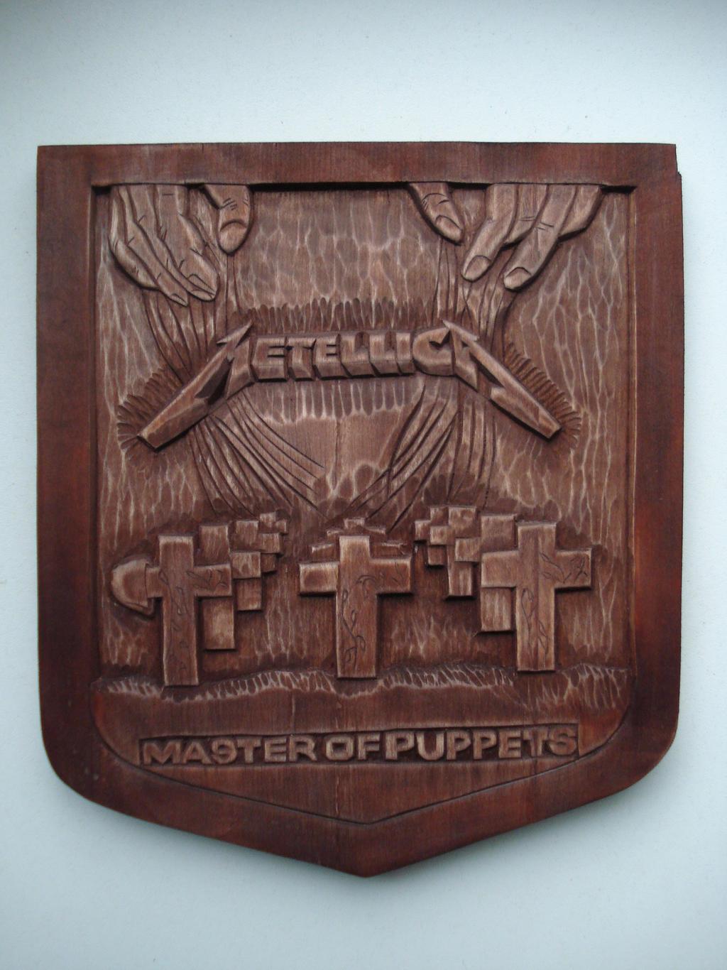 Metallica logo made from wood by edwardwoodart on deviantart