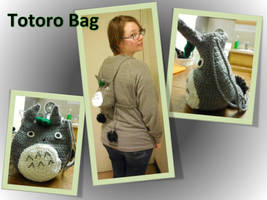 Totoro Bag by frolickingvegan