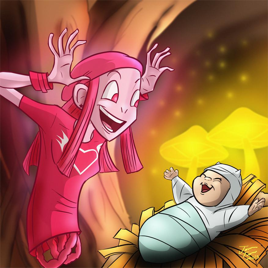 Izabel babysitting Baby Hazel by jonathanserrot