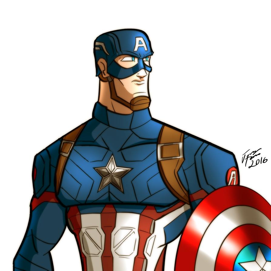 Captain America by jonathanserrot