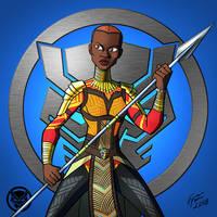 Black Panther: Okoye by jonathanserrot