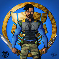 Black Panther: Killmonger by jonathanserrot