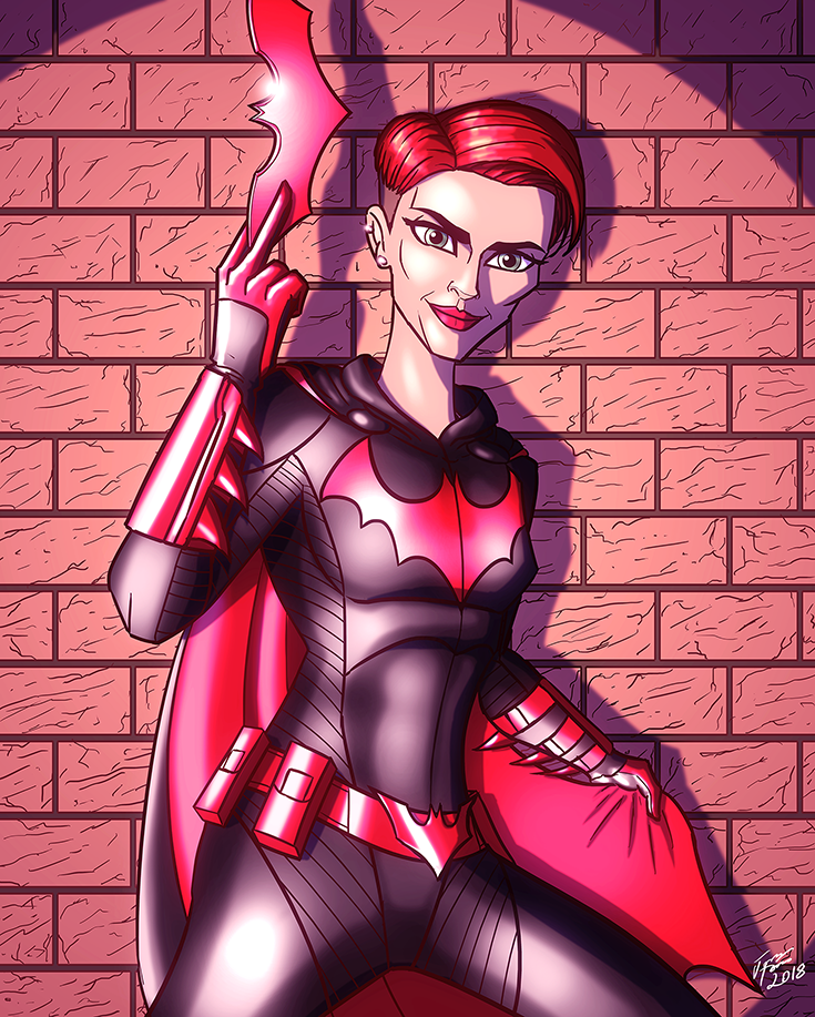 Ruby Rose as Batwoman by jonathanserrot