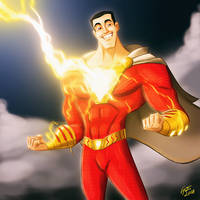 New Shazam! Artpiece by jonathanserrot
