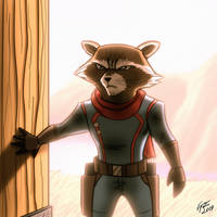 Rocket Raccoon by jonathanserrot