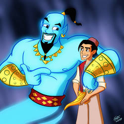 Genie and Aladdin (Commissions open) by jonathanserrot