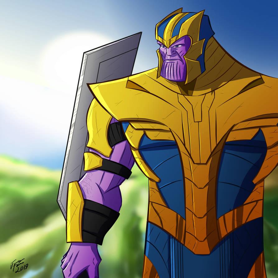 Endgame Thanos by jonathanserrot