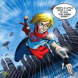 The Mighty Kara Zor-El by jonathanserrot