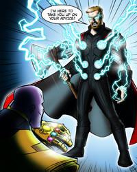 Thor vs. Thanos: Rematch by jonathanserrot