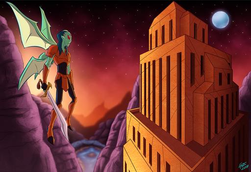 Winged Alien Warrior Concept Art