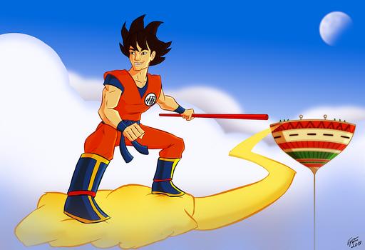 Goku and The Flying Nimbus