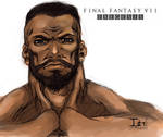 FFVII EX-- BARRET SKETCH