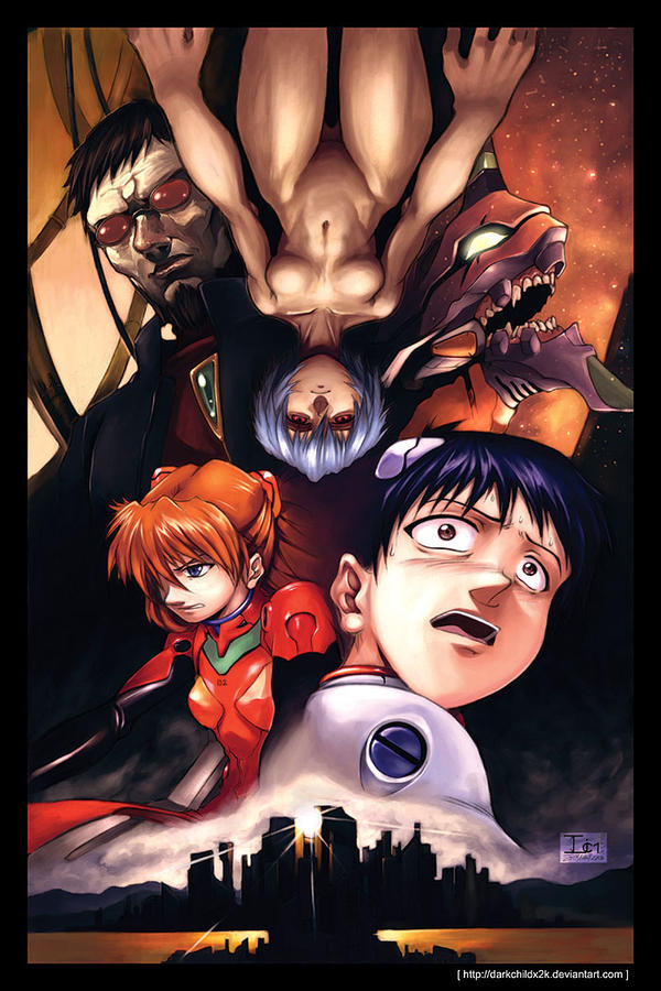 NGE Poster -Retouched- by DarkChildx2k