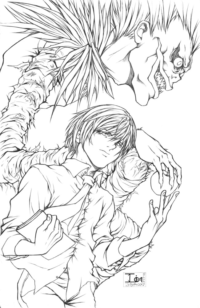 deathnote coloring pages-#6