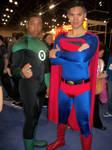Green Lantern n Superman nycc