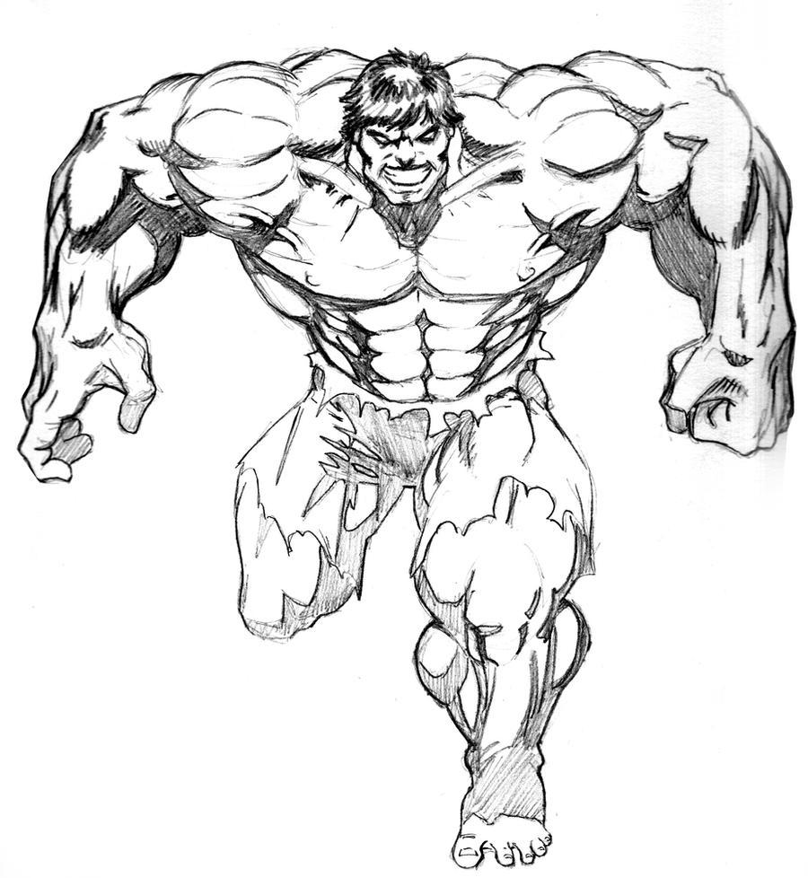 Hulk Face Line Drawing : Hulk pencils by lenlenlen on deviantart