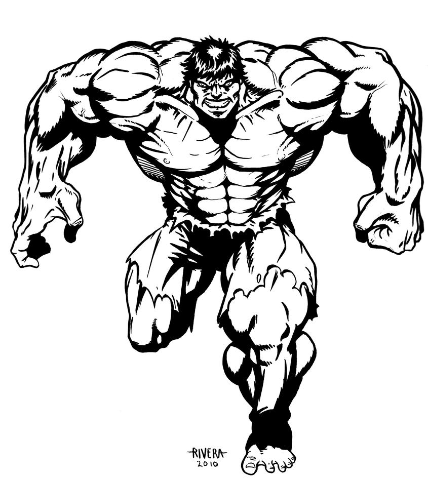 Hulk Face Line Drawing : Hulk inked by lenlenlen on deviantart