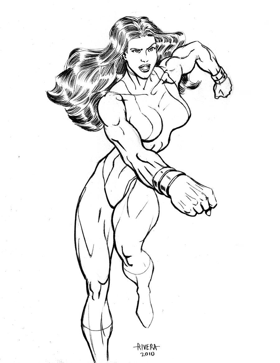 she hulk wip 01 by lenlenlen1 - She Hulk Coloring Pages