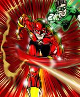 Flash and Green Lantern clr by lenlenlen1