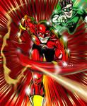 Flash and Green Lantern clr