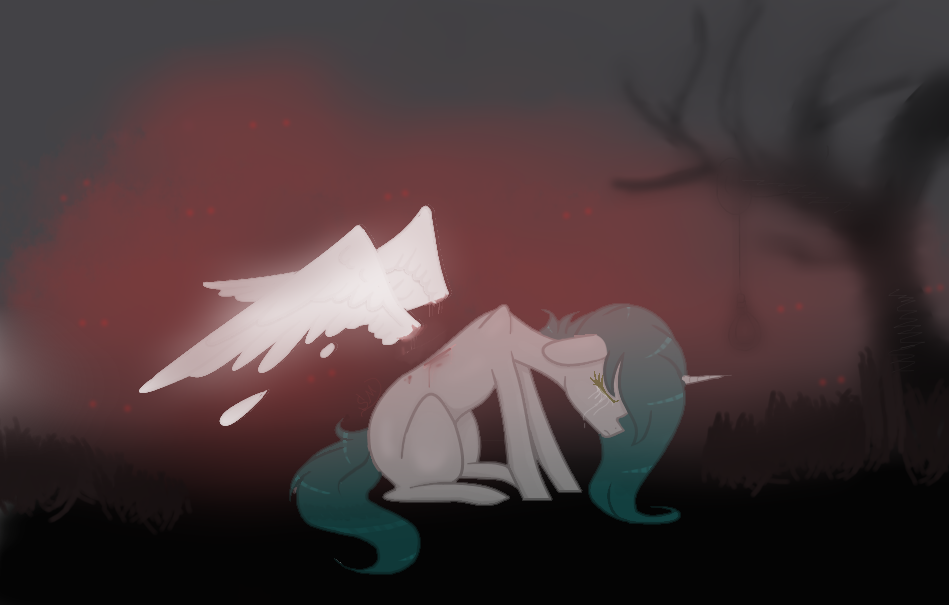  MLP the wounds won't close by Sapphire-M00nLight
