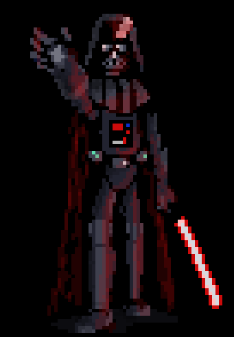 Darth Vader Pixel Art By Zoltian On Deviantart