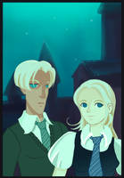 Draco and Luna by GaspardART