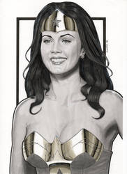 Lynda Carter Modern Day Wonder Woman (Portrait) by Promethean-Arts