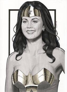 Lynda Carter Modern Day Wonder Woman (Portrait)